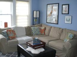 Light Blue And White Living Room \u2013 Modern House
