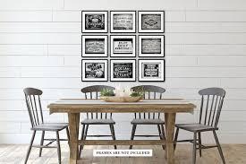 rustic kitchen wall art decor prints