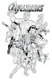 Coloring Pages Marvel Avengers Gen Color