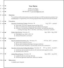 Resume Examples For College Students With No Experience Beauteous Resume Education Examples For Highschool Students Also High School