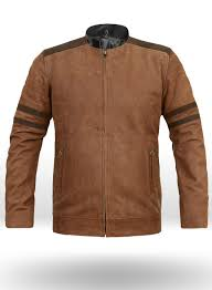 leather fighter t shirt jacket loading zoom