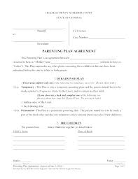 Custody Agreement Template Child Custody Agreement Without Court Template
