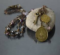br virgin mary necklace vine miraculous medal catholic jewelry religious necklace mother gift confirmation sponsor gift