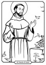 St Francis Of Assisi Coloring Page Coloring Pages For Familly And Kids