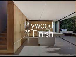 plywood as finish you