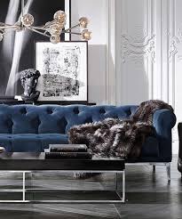 une pièce à vivre luxueuse design d intérieur décoration maison luxe royal blue sofanavy blue velvet sofablue velvet sofa living roomroyal