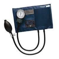 aneroid manometer. mabis® caliber™ series aneroid sphygmomanometer/blood pressure cuff, blue, choice of manometer