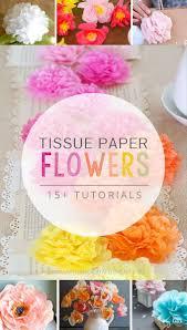 Tissue Paper Flower Tutorials 15 Tissue Paper Flower Tutorials Sparkles To Sprinkles