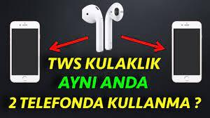 TWS Kulaklık 2 Telefonda aynı anda Nasıl Kullanılır Eşleştirilir ? - YouTube