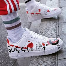 gucci air force 1. #hypefeet: sneaker customizer imagines what a gucci ghost (@troubleandrew) x @ air force 1 e