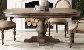 round pedestal dining table wooden with leaf