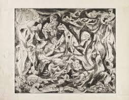 best jackson pollock images abstract  untitled 4 1944 45 by jackson pollock