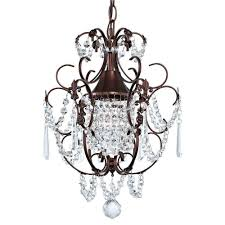 small crystal chandeliers for bedrooms fresh crystal mini chandelier pendant light in bronze finish ceiling of