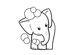 Small Picture Cartoon Elephant Coloring Pages GetColoringPagescom