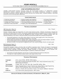 Senior Architect Resume Chief Software Architect Sample Resume Fresh Architect Resume 9