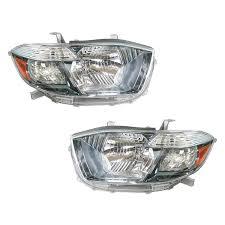 Toyota Highlander Parking Lights Headlights Headlamps Left Right Pair Set For 08 10 Toyota Highlander Hybrid