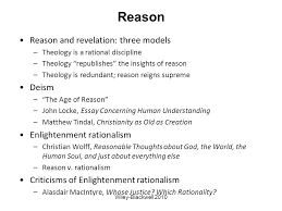 alister mcgrath christian theology an introduction chapter the  reason reason and revelation three models theology is a rational discipline theology republishes