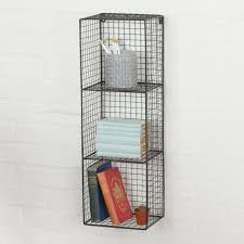 wall shelf 60x60 cm metal wood hanging