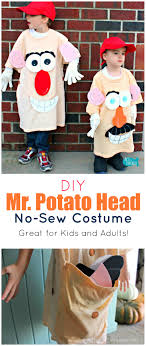 this no sew mr potato head costume is so fun for dressing up and