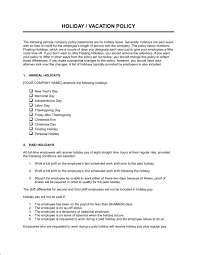 policy templates time off policy template word pdf by business in a box