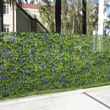 FenceScreen Purple Morning Glory Purple Morning Glory Graphic Chain-Link Fence  Privacy Screen (Fits