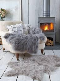 real sheepskin rugs for fur skin rug faux living room white bear bedroom interior