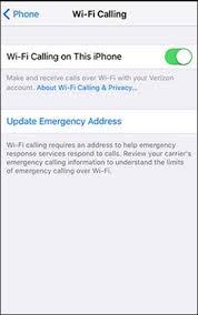 Address By Phone Wi Fi Calling Apple Iphone Change Emergency Address