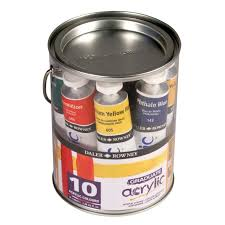 graduate acrylic paint pot set 10 x 38ml loading zoom