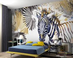 wallpaper for office wall. Photo Wallpaper Custom Mural Simple Watercolor Zebra Office Living Room Tv Decoration Wall Soundproof Borders For