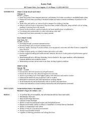 Prep Cook Resume Sample Prep Cook Resume Samples Velvet Jobs 16