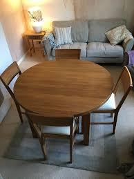laura ashley round oak dining table and chairs