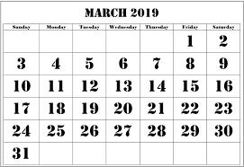 Blank Editable Calendar March 2019 Editable Calendar Free January 2019 Calendar