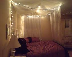 Diy Canopy Bed Diy Canopy Bed Using Command Strips Sheer Curtains And Wire