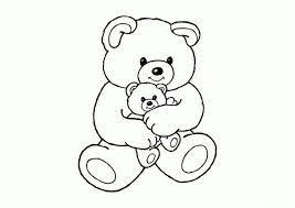 Tranh tô màu con gấu đẹp, ngộ nghĩnh dành cho bé yêu