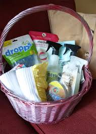 cleaning supplies gift basket