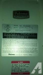 paloma tankless water heater. Paloma Tankless Water Heater - $800 A