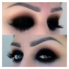 black eyeshadow makeup hair and makeup liked on polyvore featuring beauty s makeup eye makeup eyeshadow eye shadow and eyes