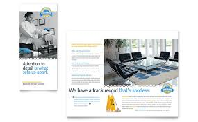 Cleaning Brochure Janitorial Office Cleaning Tri Fold Brochure Template