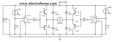 simple solar tracker circuit diagram