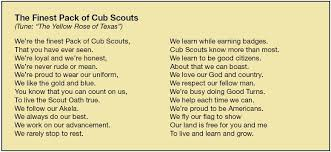 cub scout camping list bear necessities cubscouts org cubscouts org