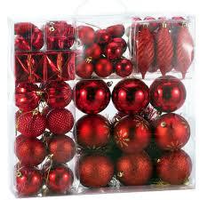 Deuba Weihnachtskugeln Rot 103 Christbaumkugeln Christbaumschmuck Aufhänger Für Den Weihnachtsbaum Weihnachtsbaumschmuck Weihnachtsbaumkugeln