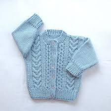 Light Blue Cardigan Toddler Toddler Blue Cardigan 12 To 24 Months Childs Hand Knit Sweater Toddler Girl Sweater Baby Boy Blue Cardigan