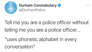 The lapd los angeles police department phonetic alphabet is still in use, with some variations, by the lapd and other us agencies. Durham Constabulary Posts Facebook