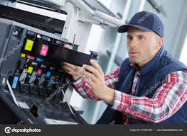 Printer Technician Printer Technician Removing Cartridge Container Stock