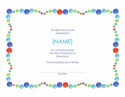 Prek Diploma 11 Preschool Certificate Templates Pdf Free Premium Templates