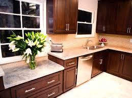 Backsplash For Dark Cabinets Dark Kitchen Cabinets With Light Backsplash Quicuacom