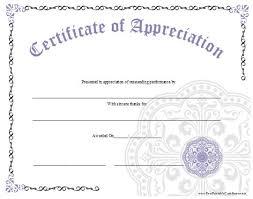 Printable Appreciation Certificates An Ornate Certificate Of Appreciation With A Large Lavender Graphic