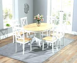 antique white and oak round dining table with chairs weathered white wash oak dining room set