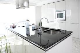 white modern kitchen. Full Size Of Kitchen:mesmerizing Modern White Kitchen Island With Black Counter Large