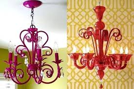 diy painted chandelier modern red spray paint chandelier diy spray painted chandelier